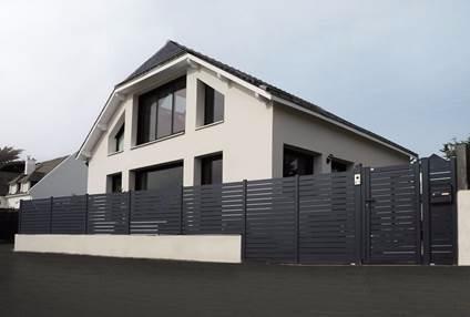 Portail moderne aluminium Nord, Lille, Dunkerque, Armentières